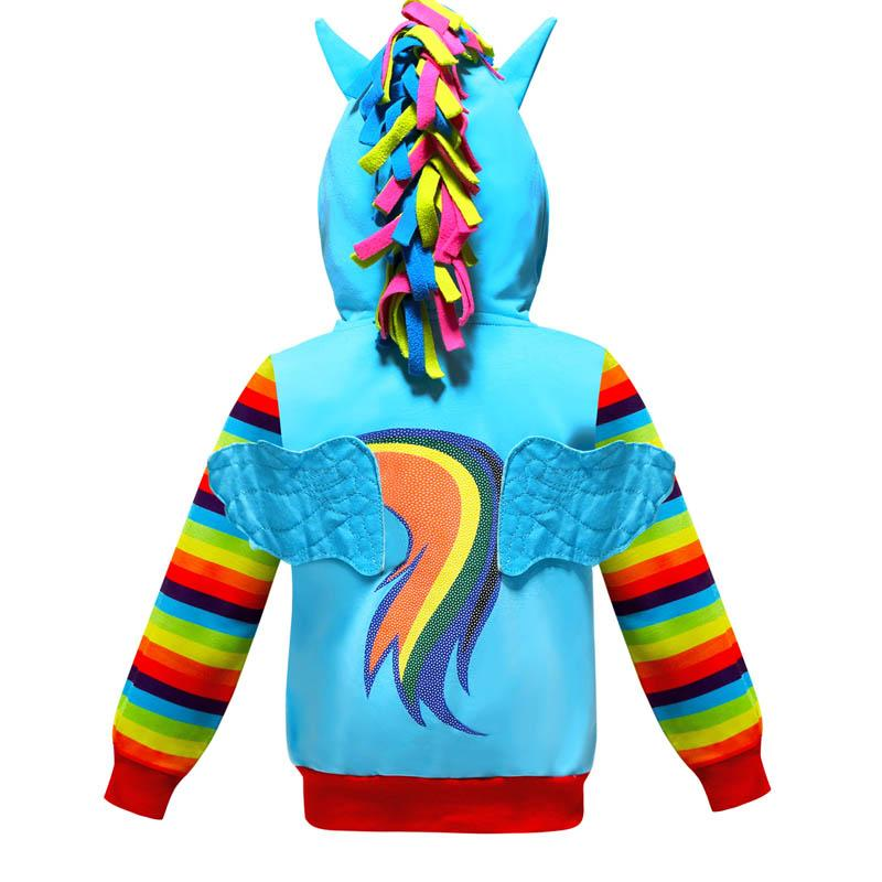 Spring Autumn teenage girls clothing unicorn Girls hoodie kids designer clothes childrens hoodies Girls Coat kids clothes A2492