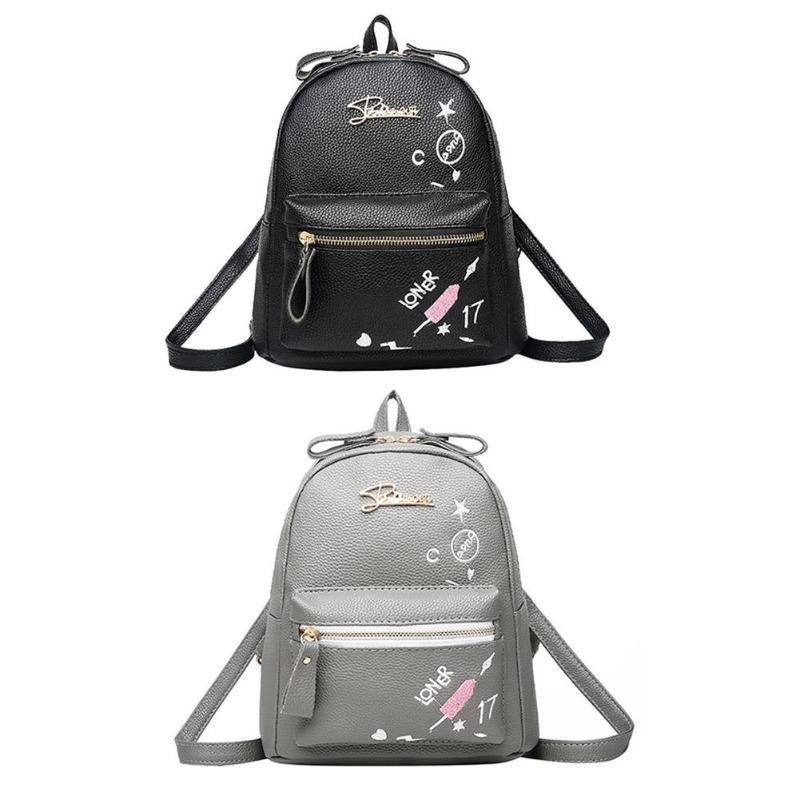 f4e79af4ddaf Women Floral Print Small Backpack Girls Female PU Leather Shoulder Backapck  Fashion Famous Design Travel School Rucksack 2019 Swiss Gear Backpack Osprey  ...