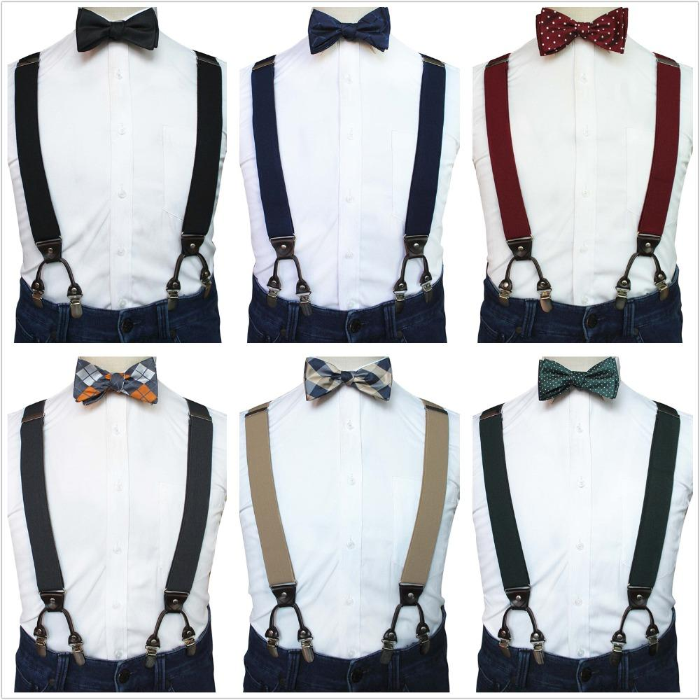 74ab149738a7 JEMYGINS Original Y Plain Suspender Bow Tie & Pocket Square Set For Men  Party Dress Wedding High Quality Clip Braces Green Ties Green Bow Tie From  Grandliu, ...