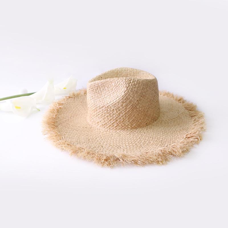 e854ff287 2019New Fashion fedora hat Weave Women Beach Sun Hat Foldable Panama Straw  Hat Summer Women Outdoors Sunshade