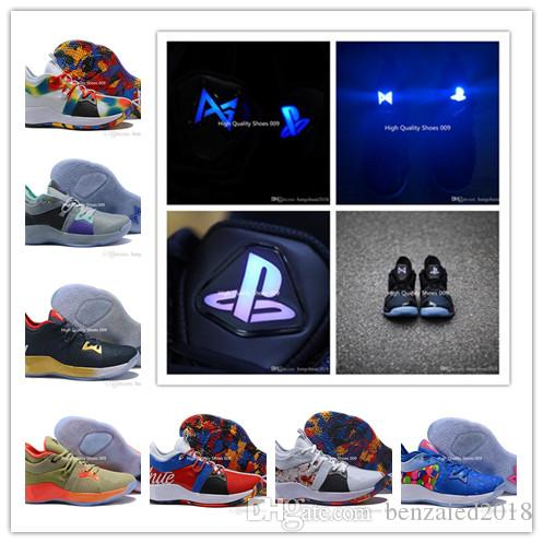 c0a4db252 2019 Nouvel arrivant Hommes Lumières UP 2 PlayStation Taurus Route Master  Basketball Chaussures Paul George II PG2 2s PS Sport Baskets Taille 40-46