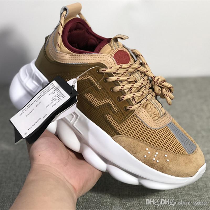 d509351d0d Reaction Shoes Acheter De Designer Versace Nouveau Chain Chaussures wZ75X7q