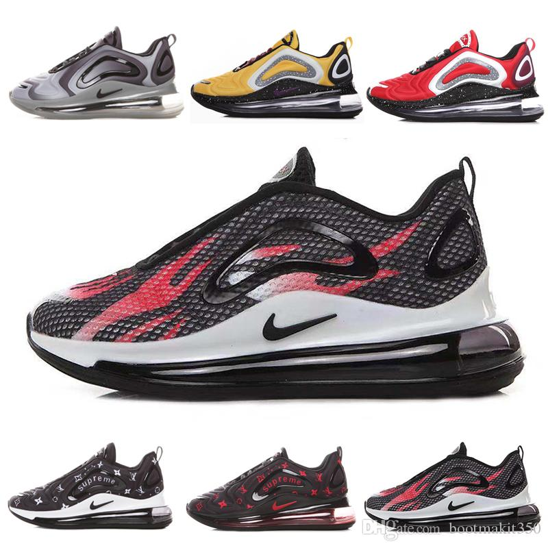 nike air max 720 720s 72c airmax Zapatos nuevos Zapatos acolchados para hombre, mujer, neón, triple, negro, carbono, gris, al atardecer, metalizado,
