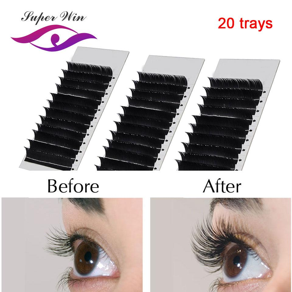 1ed601a22a6 20 Case 12 Lines Mix Length Individual Eyelash Extension 8 15 Mm Mix  Classic Natural Long Eye Lashes Korea Silk Lash Extension Fake Lashes  Individual Lashes ...