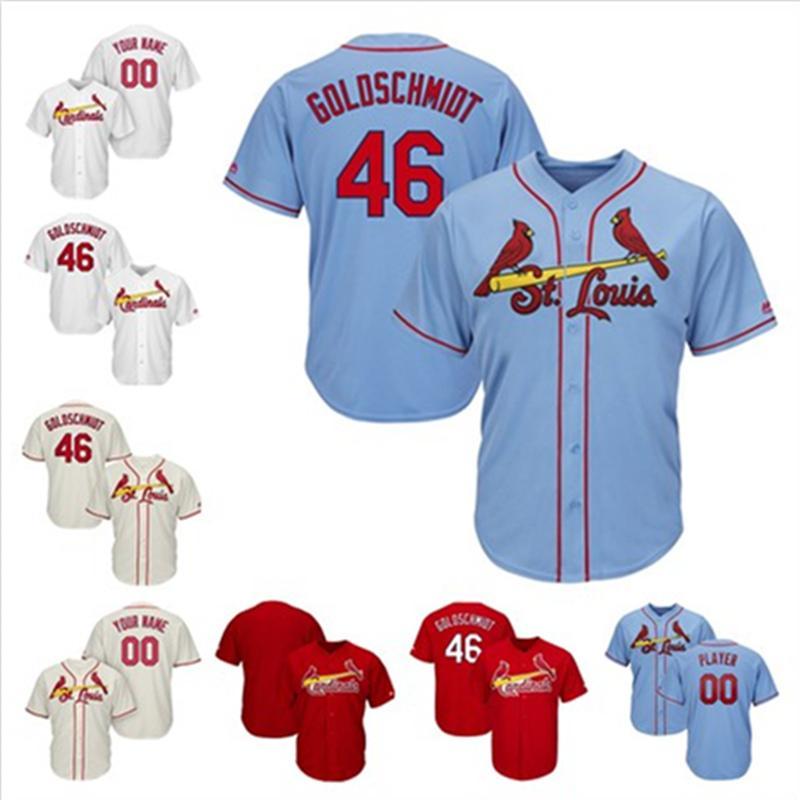 pretty nice 69947 d5318 Mens Paul Goldschmidt Yadier Molina Custom Cardinals Jersey Matt Carpenter  Ozzie Smith Paul DeJong St. Louis Stitched Baseball Jerseys