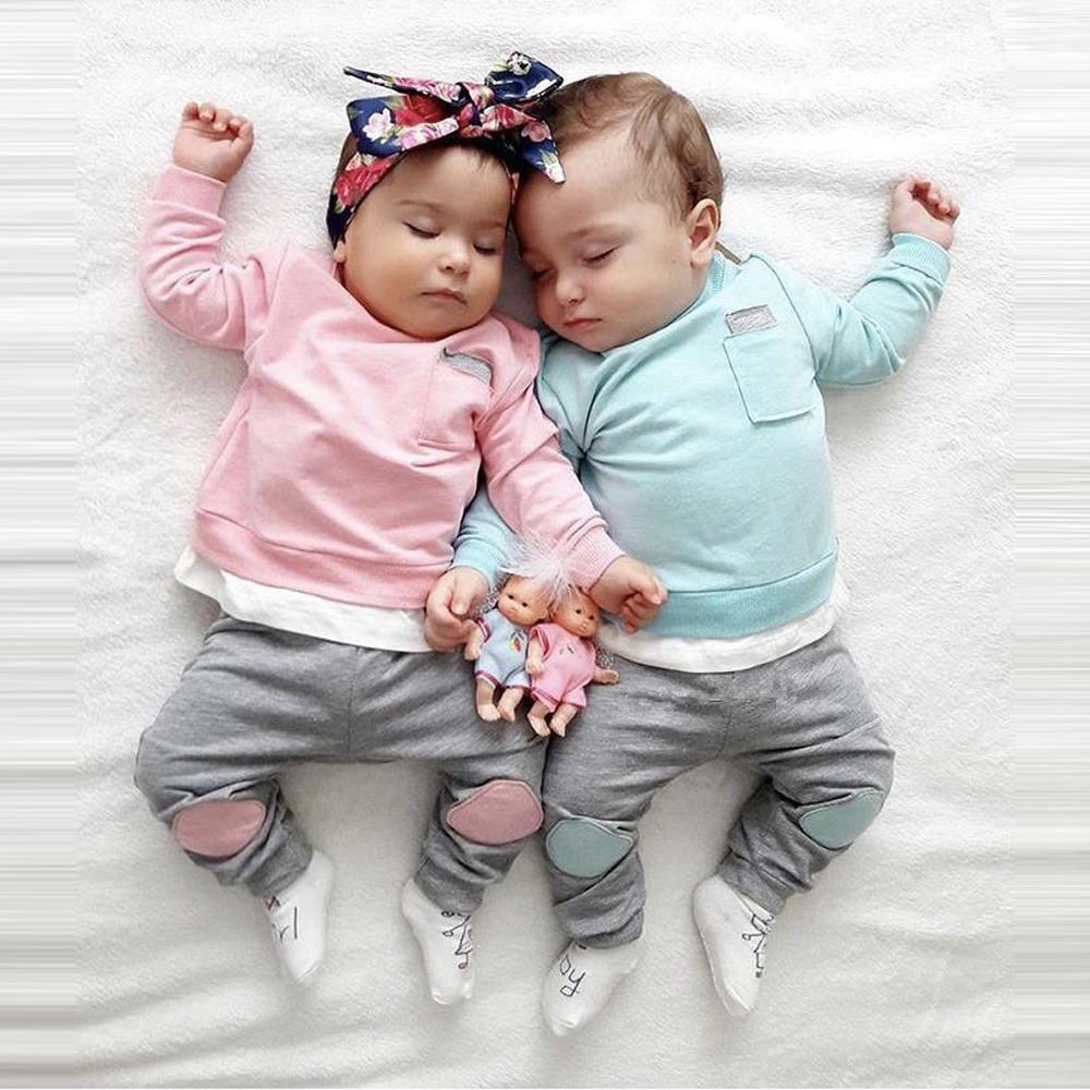 5500d2fae60 Compre MUQGEW Otoño Recién Nacido Bebé Niño Niña Niño Camiseta Tops +  Pantalones 2 UNIDS Trajes Ropa Conjunto De Ropa Kds Invierno Roupa Infantil  3M 24M ...