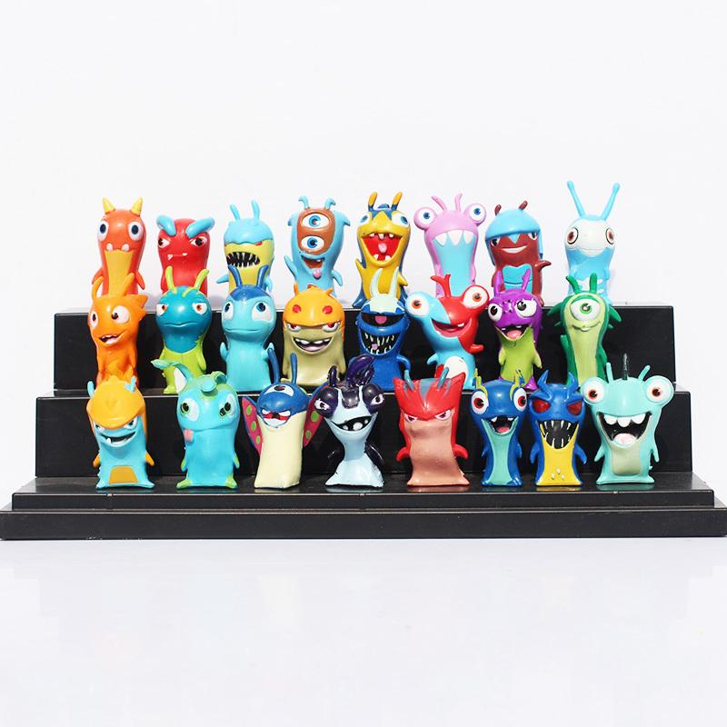 24pcs /Set Cute Cartoon Slugterra Pvc Action Figure Toys Juguetes Free Shipping