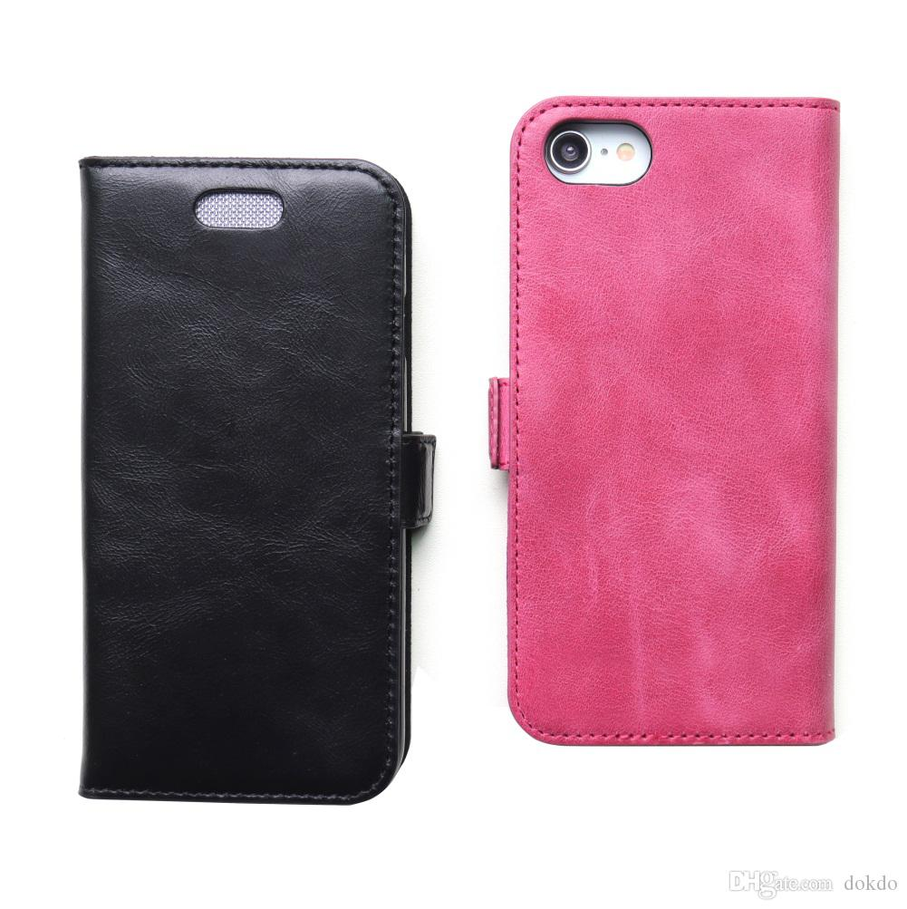outlet store 3a6d6 81fda Genuine Leather Case For iPhone 8 Protective Cover For iPhone 7 Flip Cover  Vintage Anti-radiation Shell For Pregnant Women