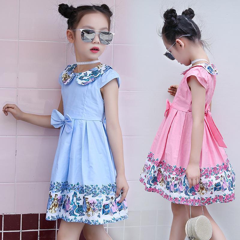 49ff2f15ec7 Satın Al Çocuk Kıyafeti, Yazlık Kıyafet, 2019 Yeni Tarz, Kız Çocuk  Eğlencesi, Saf Pamuk Çiçek, Çin Usulü Güzel Prenses Giydir., $31.18 |  DHgate.Com'da