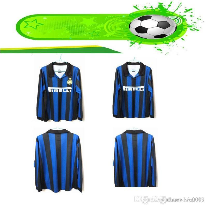 huge discount 45846 f12eb 1998 Inter Milan long Sleeve Retro soccer jersey shirts