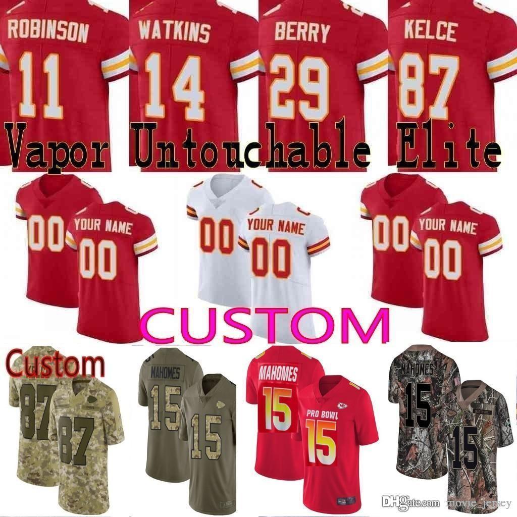 new product 43bcc 2f1c5 2019 Pro Bowl custom Men Youth women Kansas City 15 Patrick Mahomes Tyreek  Hill Travis Kelce Eric Berry chiefs Camo Elite Limited Jersey