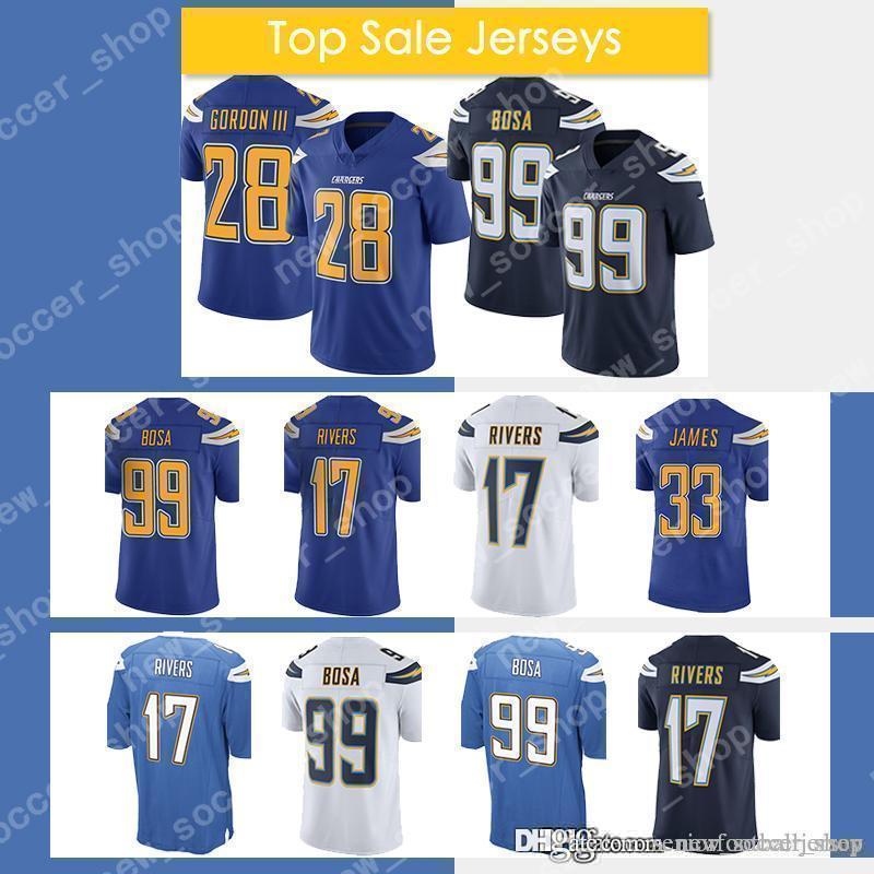 8fcc6fa0 2019 28 Melvin Gordon Jersey 99 Joey Bosa Los Angeles Mens Chargers 17  Philip Rivers 33 Derwin James Football Jerseys From Seniorfootballjersey,  ...