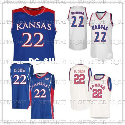 buy online 0b54e 104fc CUSTOM Silvio De Sousa Kansas Jayhawks Jersey no.22 College Basketball  Jerseys Stitched Mens Women Youth Custom Any Name Number XS-6XL