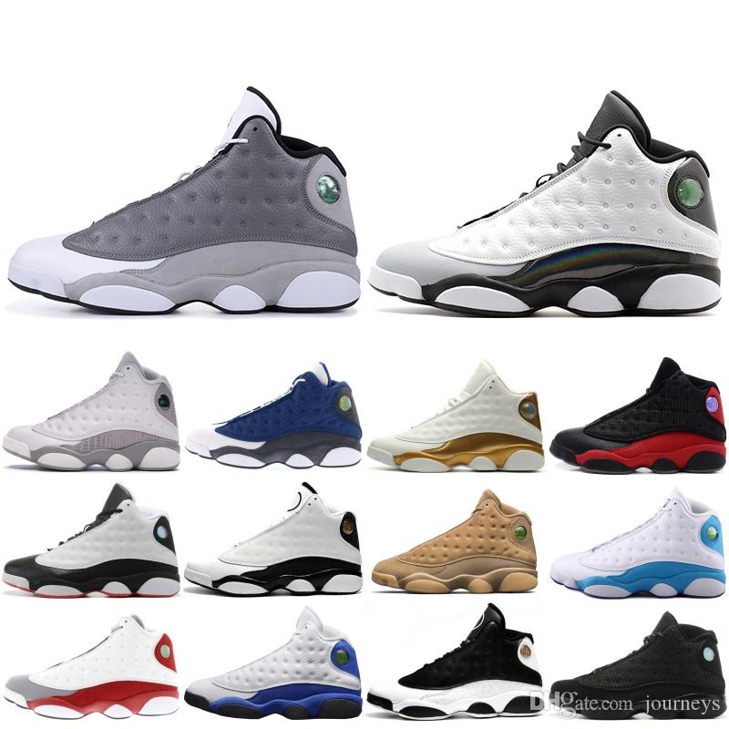 620089956aefad 2019 13 13s Mens Basketball Shoes Atmosphere Grey Wheat Bred DMP Chutney  Black Cat Trainers XIII High Designer Sports Snerkers 7 13 From Journeys
