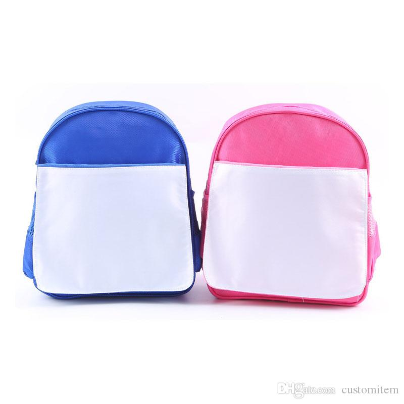 Promotion sublimation blank children kids schoolbag kindergarten book bag hot transfer printing blank diy consumables factory price