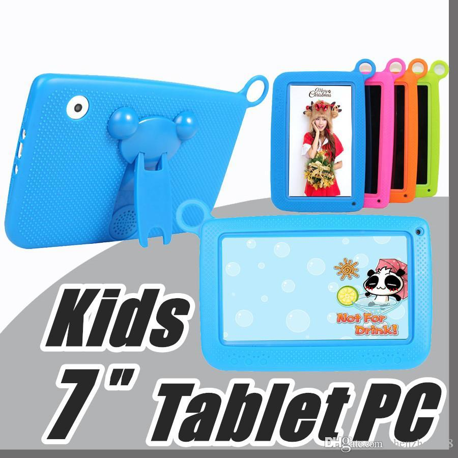 "2017 Kids Brand Tablet PC 7"" Quad Core children tablet Android 4.4 Allwinner A33 google player wifi big speaker protective cover M-7PB"