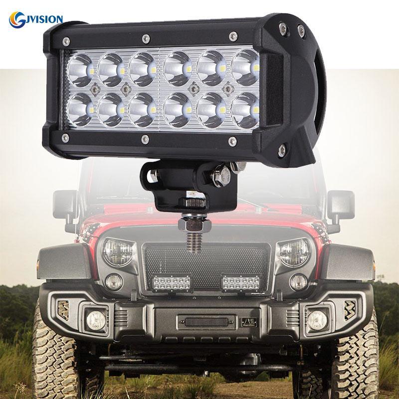 AAIWA LED Light Bar 2 Years Warranty 36W Flood LED Bar Off Road Lights 4 PCS LED Fog Light Driving Lights 7 Boat Light LED Work Light for Truck SUV ATV Jeep LED Lights