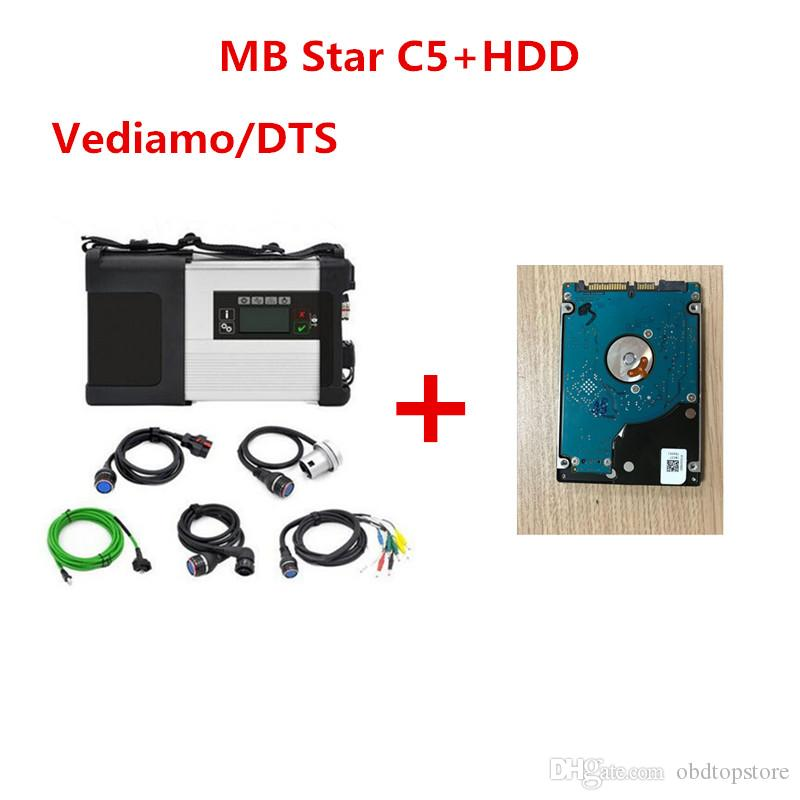 2019 Newly MB Star C5 wifi MB SD Connect Compact 5 Diagnostic tool for Mercedes benz Newest V2019.07 in 500MB HDD for Cars and Trucks