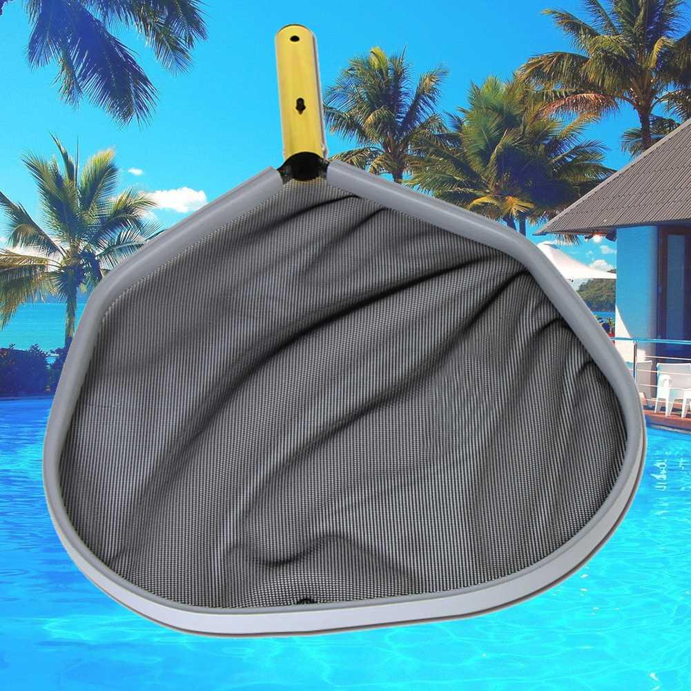 Pool Cleaning Tool Fine Mesh Aluminum Frame Leaf Rake Net Practical  Lightweight Durable Swimming Pool Cleaning Net