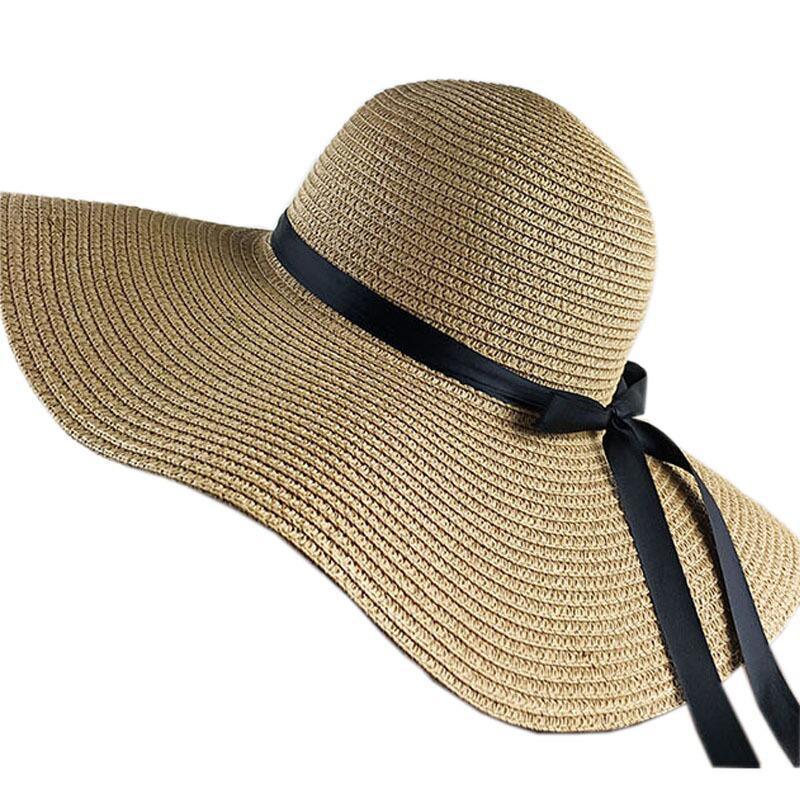 388938314a010 New Hot Sale Round Top Raffia Wide Brim Straw Hats Summer Sun Hats For Women  With Leisure Beach Lady Flat Gorras Womens Hats Hats For Women From  Alley66