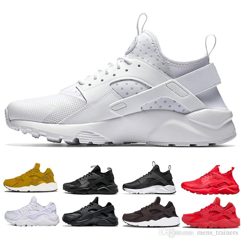 promo code 244aa 98438 Großhandel Nike Air Huarache Hot Cushion 95 TT Weiß Schwarz Sport Laufschuhe  Für Herren Damen Modedesigner Luxus Herren Schwarz Rot OG Neon Trainer  Sneaker ...