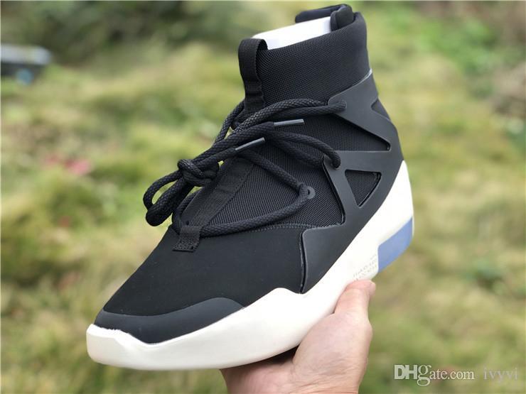 best cheap 28ae5 13bf1 Compre 2019 El Más Nuevo Negro Air Fear Of God 1 Hombre Zapatos FOG Botas  Luz Bone Sail Zapatos De Baloncesto Hombre Deportes Zoom Zapatillas De  Deporte Fly ...