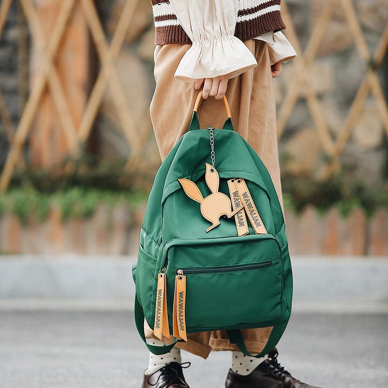 f7827cf7018e 2019 Women Backpack Lady Cute Nylon School Backpack Fresh Bow Animal Ear Pink  Bow Small Children Teenager Bag For Girls 091 Daypack Swissgear Backpack  From ...