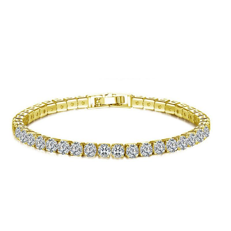 6d586a1d7 2019 High Quality Fashion Crystal Clear Rhinestone Bracelet For Women  Elegant Silver Gold Plating Zircon Bracelet Jewelry Fit Party Wedding From  Songx, ...