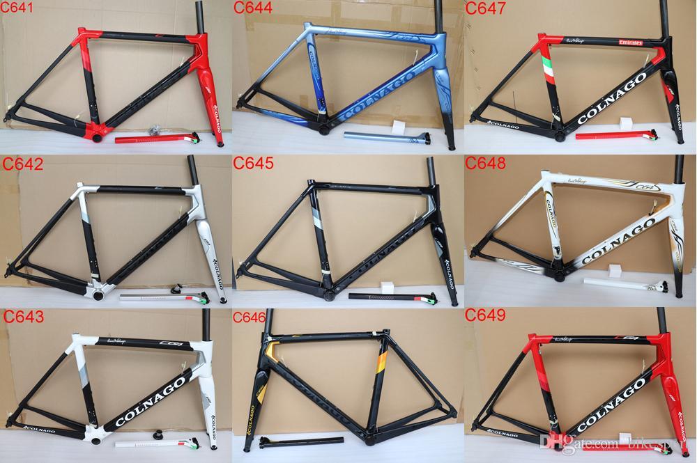 2019 newest Colnago C64 carbon Road Frame full carbon bicycle frame T1100  UD carbon road bike frame size 48cm 50cm 52cm 54cm 56cm