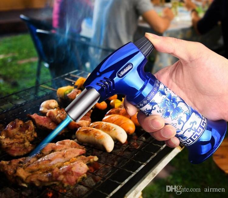 New Luxury Torch Cigar Lighter Porcelain Gas Lighter for Camping & Outdoor Barbecue CL-500 DHL FEDEXFree Ship