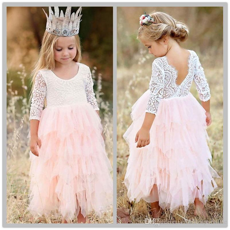 9e78088f13e08 Baby Girl Princess Costume Designs Kids Party Dresses For Girl Summer  Evening Prom Dress Child Ceremony Gown