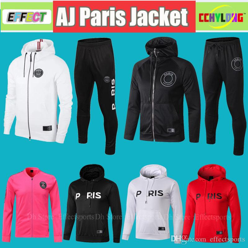 e5691e813 2019 2018/2019 PSG Jacket Hoodie Champions League Survetement 18/19 PSG  Pink MBAPPE Jordam Football Training Long Sleeve AIR Soccer Tracksuit Kit  From ...