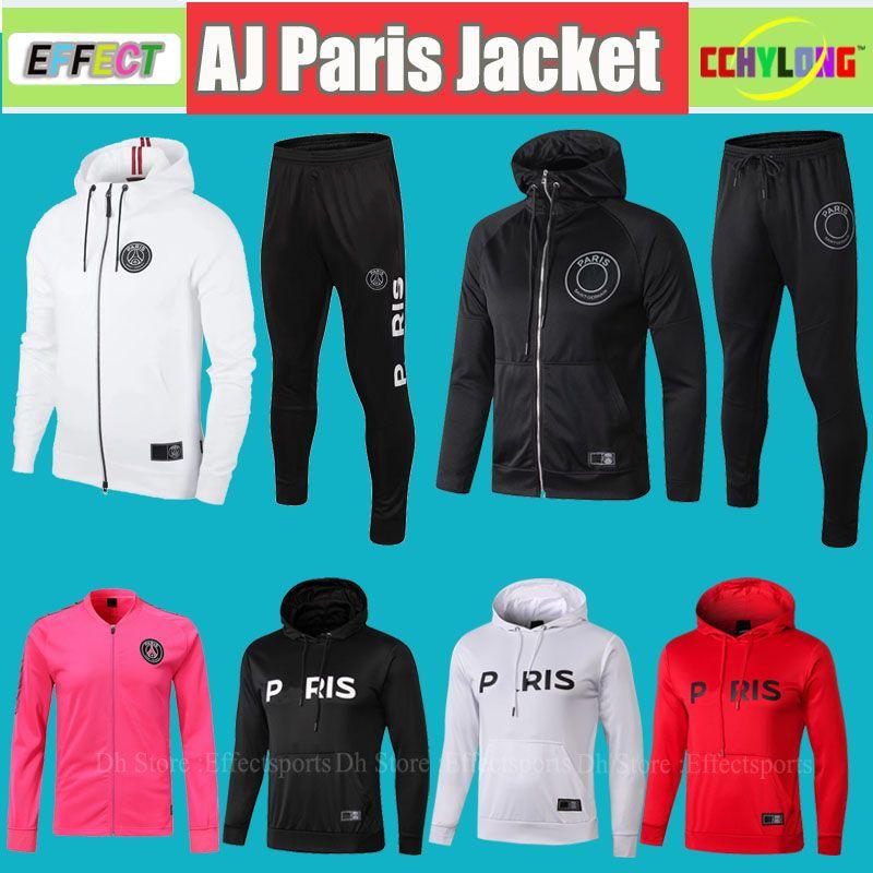 308fc01e9a Compre Paris Saint Germain Training Suits Soccer Tracksuit Ternos De Treino  PSG JODAN 2018 2019 Hoodie De Futebol PSGPE Moletom Com Capuz EPG 18/19 ...
