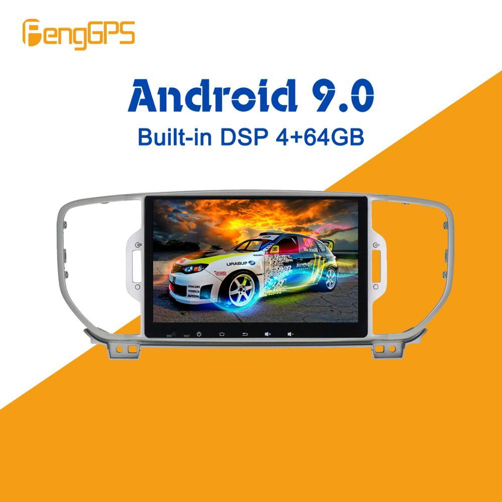 Android 9.0 4+64GB px5 Built-in DSP Car No DVD Player multimedia Radio For KIA Sportage 4 2016-2019 GPS Navigation Radio Stereos car dvd