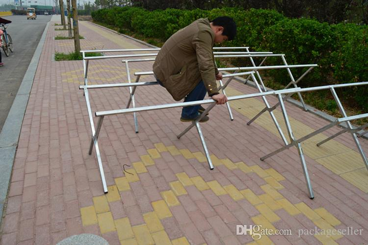 Portable Exhibition Folding Display : Out door furniture goods portable folding display stand
