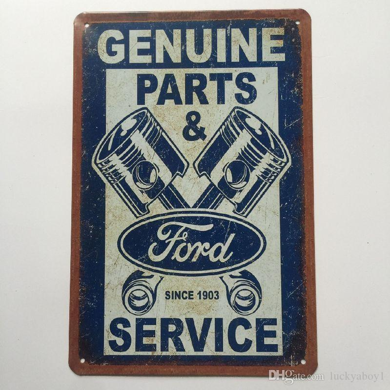Genuine Parts Service Vintage Metal Tin sign poster for Man Cave Garage shabby chic wall sticker Cafe Bar home decor