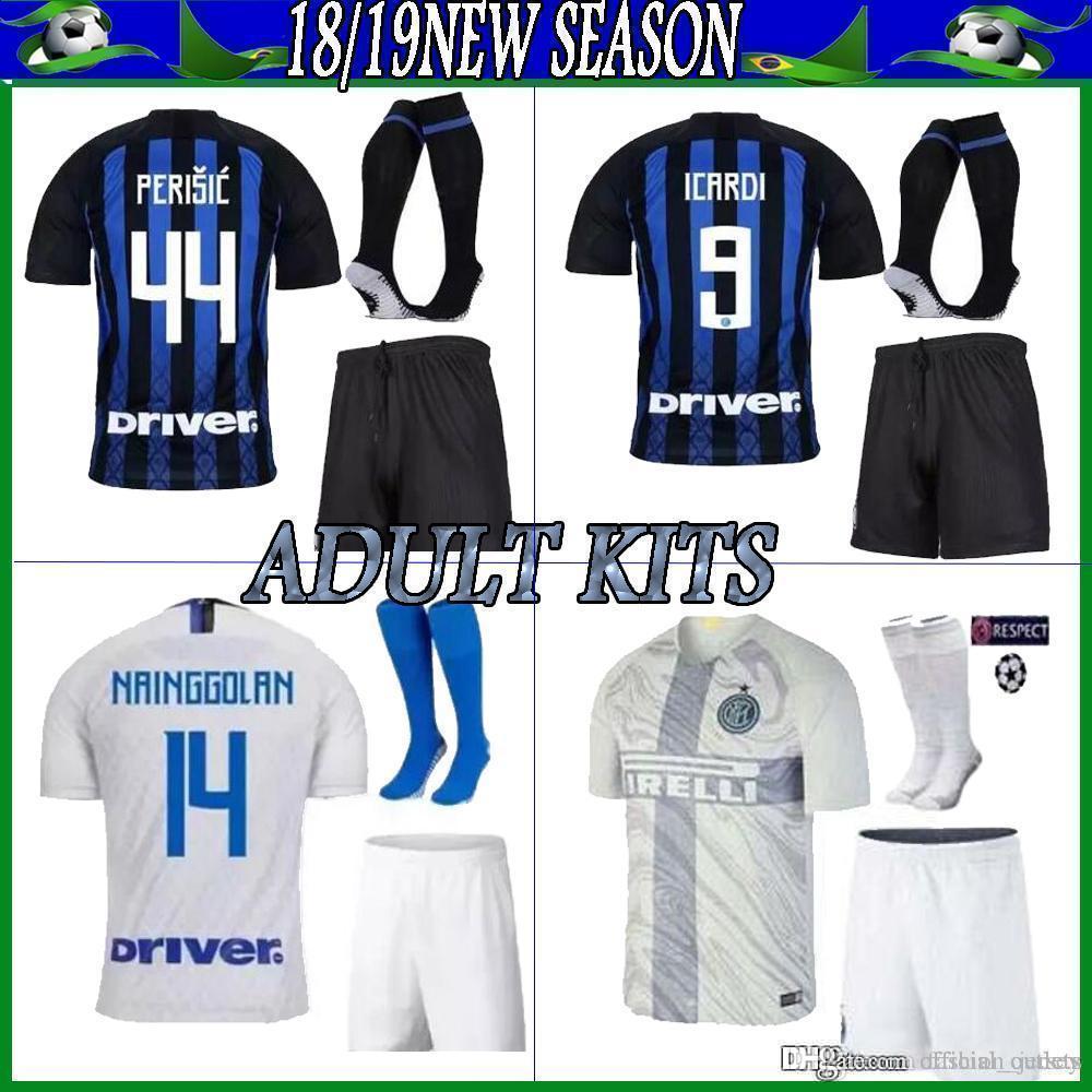 c5710bb59 2019 2018 2019 Inter CANDREVA EDER ICARDI JOVETIC Adult HOME Soccer Jerseys  Kits Kondogbia Jovetic VECINO Milanes Shirts Football DALBERT PERISIC From  ...