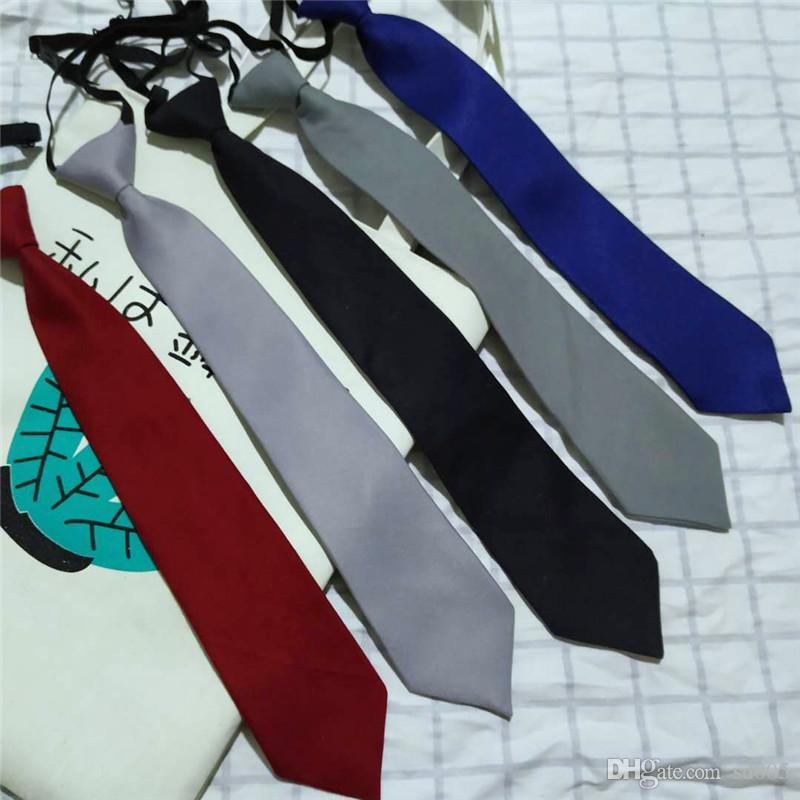 Ins Vintage Tie For Man 7cm Neckties Solid Colour Neckwear Simple Wild Joker 5 Colours Leisure Casual 5 5jh D1
