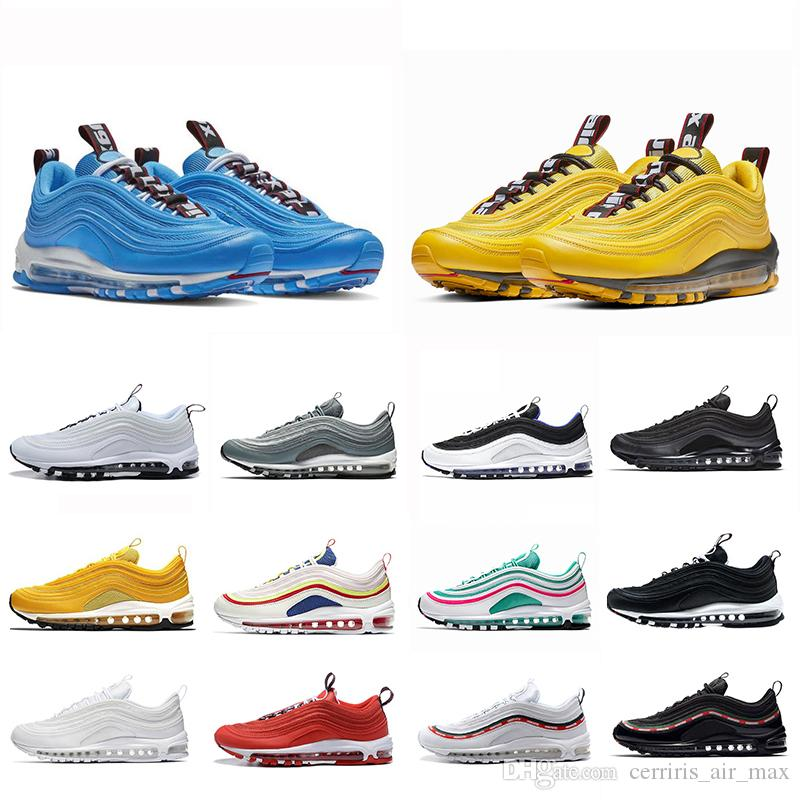 Nike Air Max 97 Zapatillas de deporte de lujo calientes Bullet Hero Bold Pull Tabs Crush Citron Persian Violet Psychic Leopard SE Essential South Beach Unfefeted Sneaker