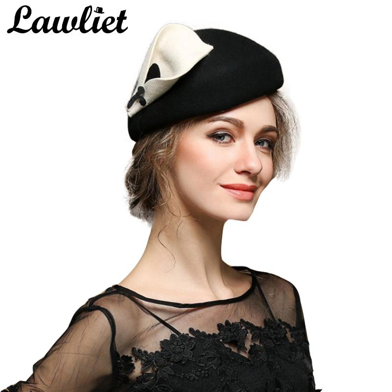 Women Beret Hats Ladies Vintage Style Fascinators Wool Pillbox Hat Cocktail  Cheltenham Fesitval Hats Women Fedoras Wedding Hats D19011102 Visor Hats  Boater ... f2063245401d