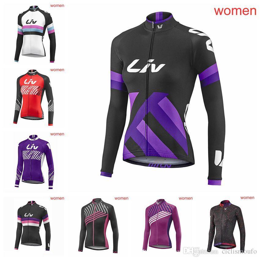 17423ad7b2aa LIV team Ciclismo Mangas largas jersey bicicleta mujer secado rápido Pro  ropa de bicicleta Resistente al desgaste Secado rápido U31322