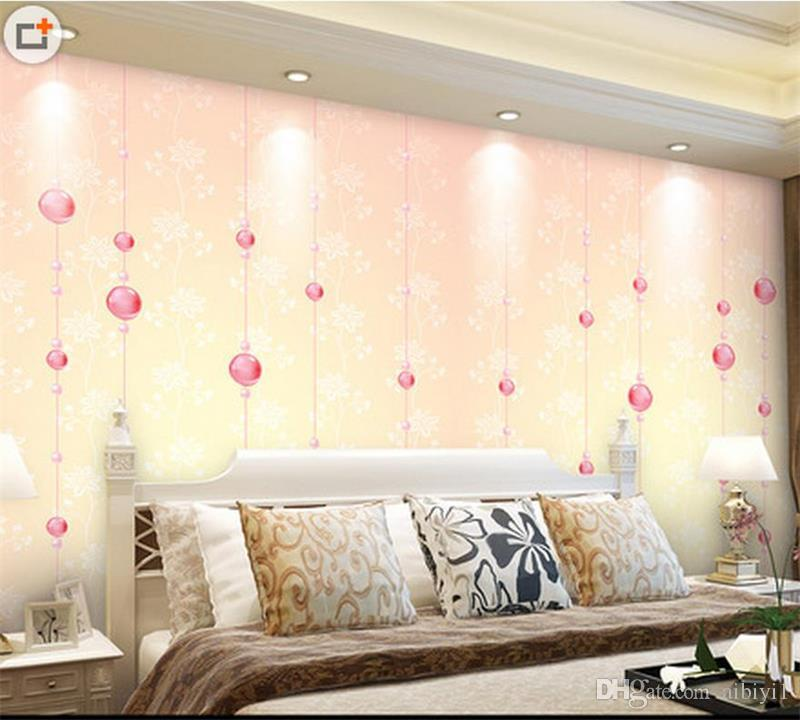 custom size 3d photo wallpaper living room bed room 3d wall mural Pink glass beads 3d picture sofa TV backdrop wallpaper non-woven sticker