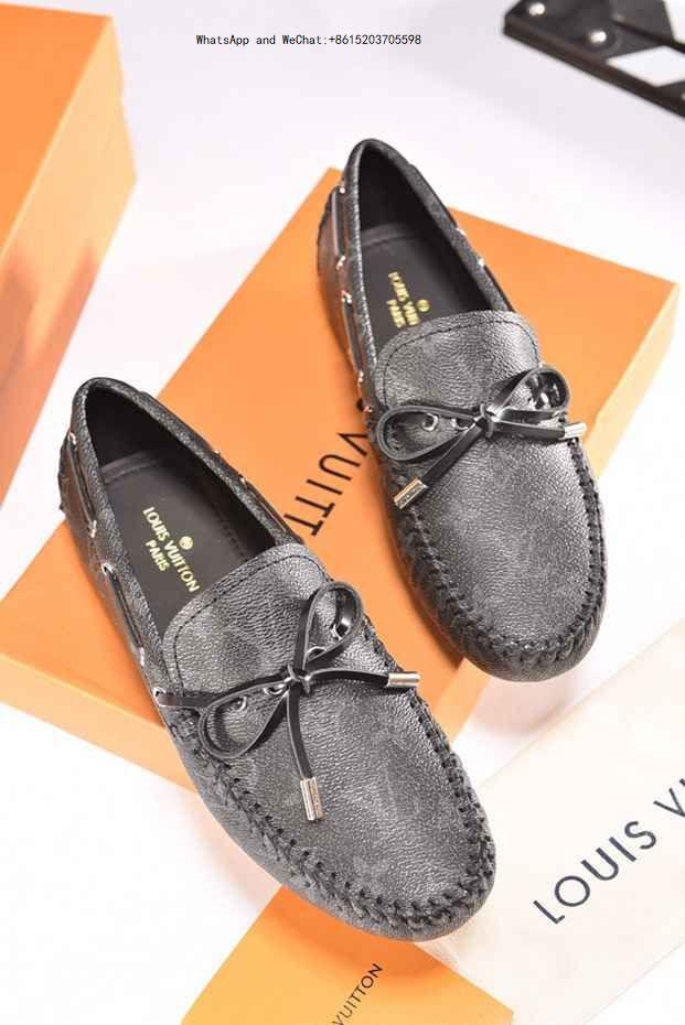 5459c38cd4f378 2019 Fashion Real Leather Men Dress Shoes Pointed Toe Bullock Oxfords Shoes  For Men