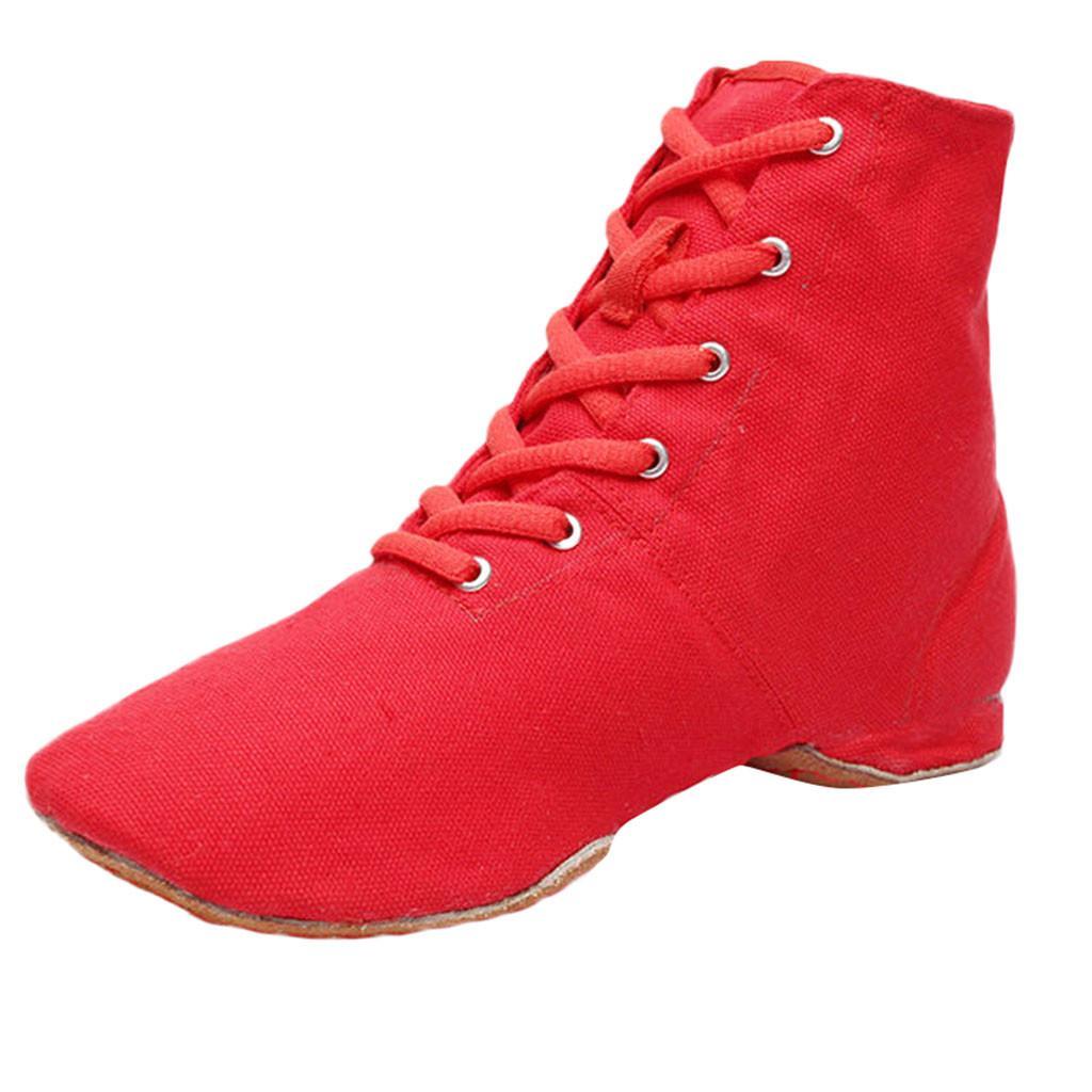 b15a34f8511055 Acheter MUQGEW Livraison Rapide Toile Jazz Casual Chaussures Ballet Danse  Fitness Respirant Femmes Chaussures De Danse Chaussons # 16 De $35.67 Du  Trendone ...