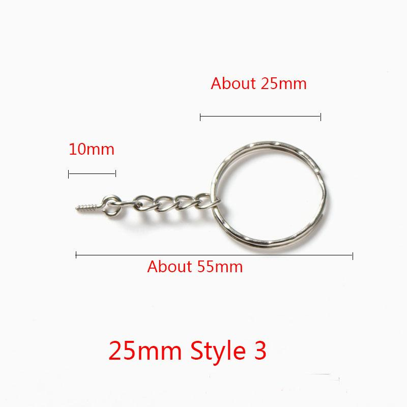 55/60mm Length Key Chains Key Ring Silver Color Round Split Keyrings Keychain for Bags Diy Jewelry Making Materrials