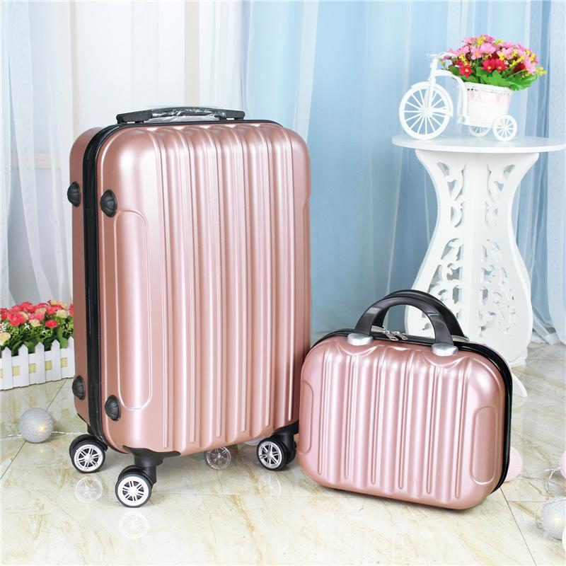 79606f56c4a9 20inch Two pieces set of luggage,Universal wheel boarding BOX,Mini  suitcase,Beautiful Trunk,Portable trolley case,Fashion valise