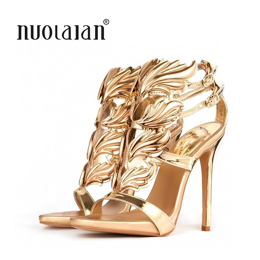 6dfa303360a6 Designer hot sell women high heel sandals gold leaf flame gladiator jpg  850x850 Mens gold gladiator