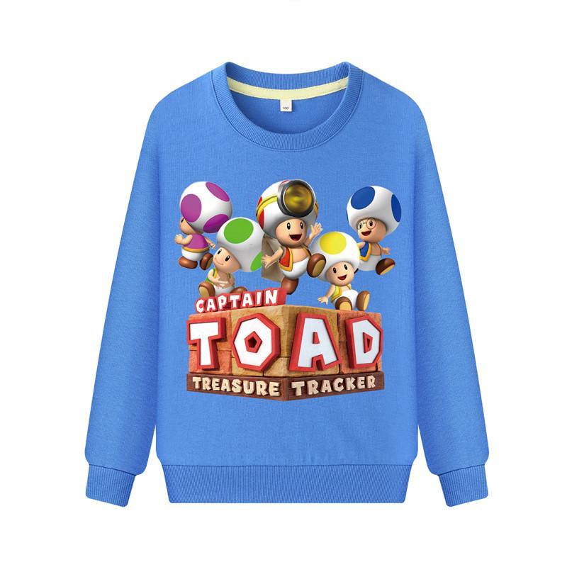 4b8e9d33bf05 2019 Baby Cartoon 3D Captain Toad Mario Print Tshirts Children Long ...