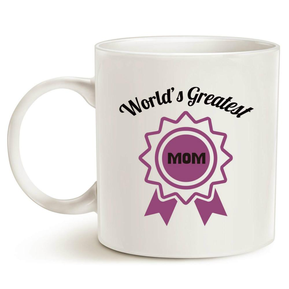 f4fd6c6eff2 Christmas Gifts Best Coffee Mug For Mom World'S Greatest Mom Unique Gifts  For Mother Mom Mama Grandma Porcelain Cup White 11 Oz Coffee Mugs Designs  Coffee ...