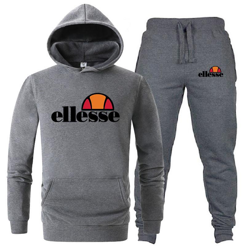 6c74868b Ellesse Mens Sports Tracksuits Italy Branded Casual Athletic Hoodie Pants  Pantalones Jogger Sweatpants